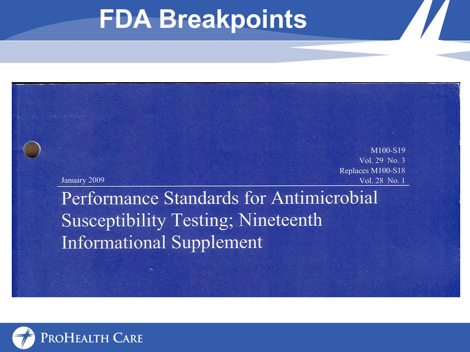 FDA Breakpoints