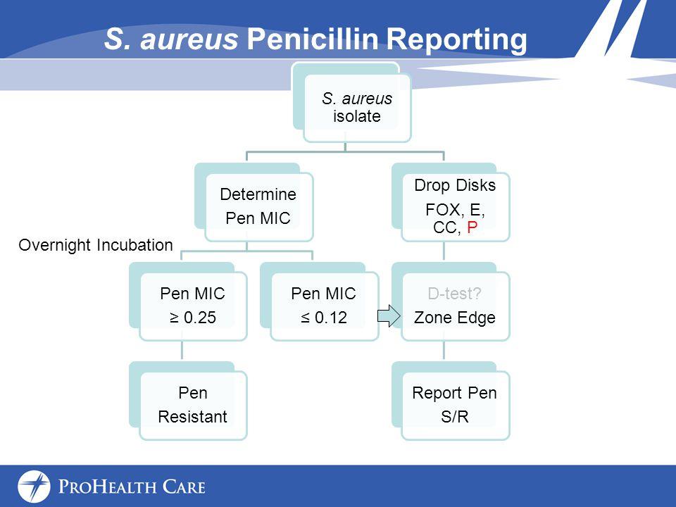 S. aureus Penicillin Reporting