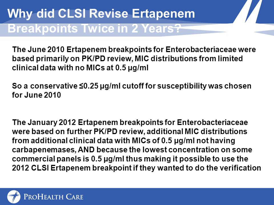 Why did CLSI Revise Ertapenem Breakpoints Twice in 2 Years