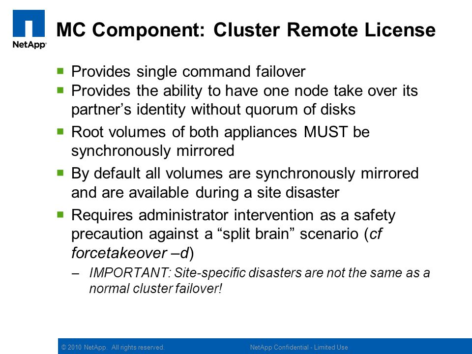 MC Component: Cluster Remote License