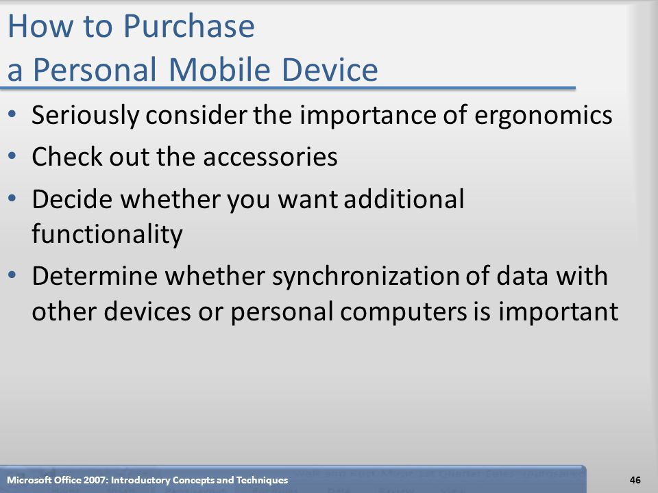 How to Purchase a Personal Mobile Device