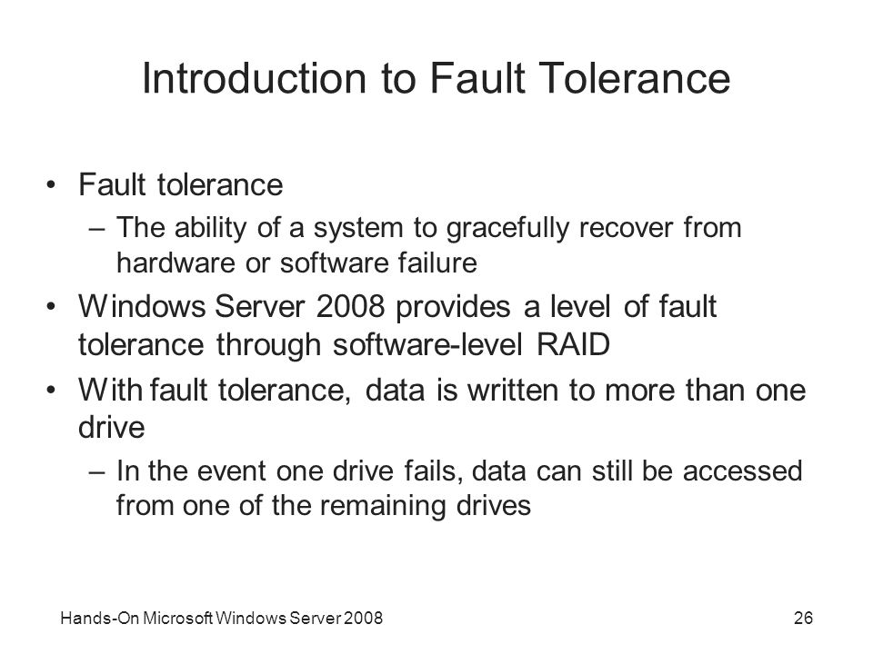 Introduction to Fault Tolerance