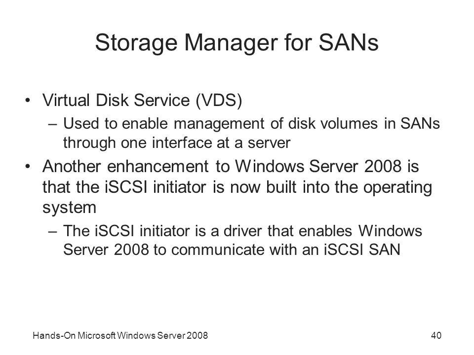 Storage Manager for SANs