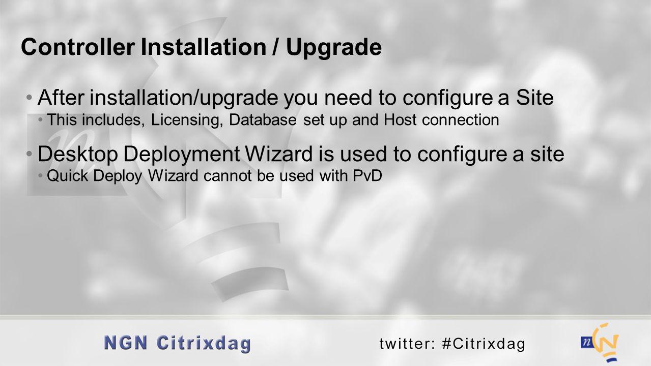 Controller Installation / Upgrade