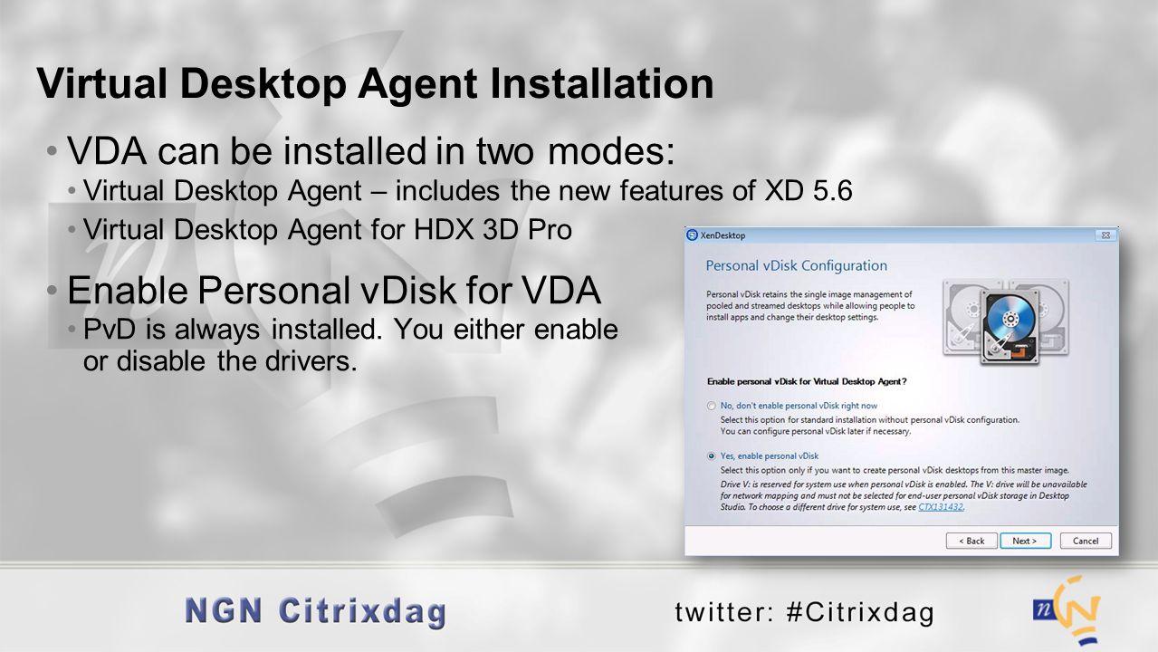 Virtual Desktop Agent Installation