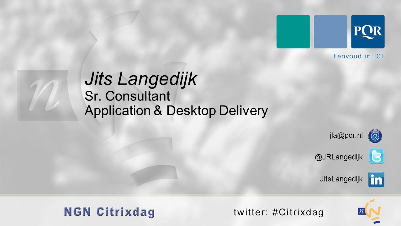 Jits Langedijk Sr. Consultant Application & Desktop Delivery