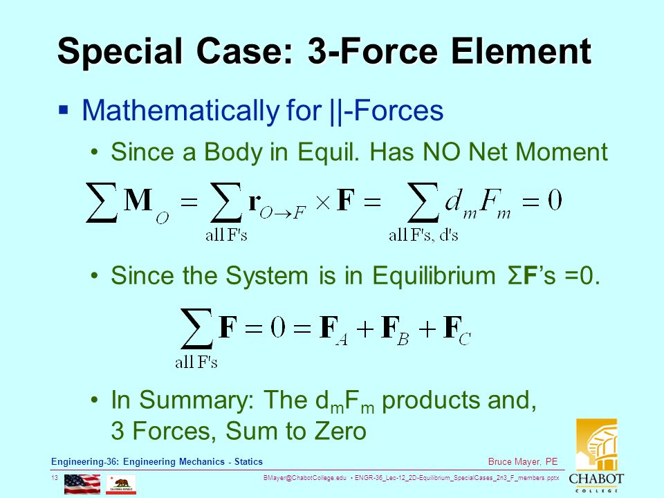 Special Case: 3-Force Element