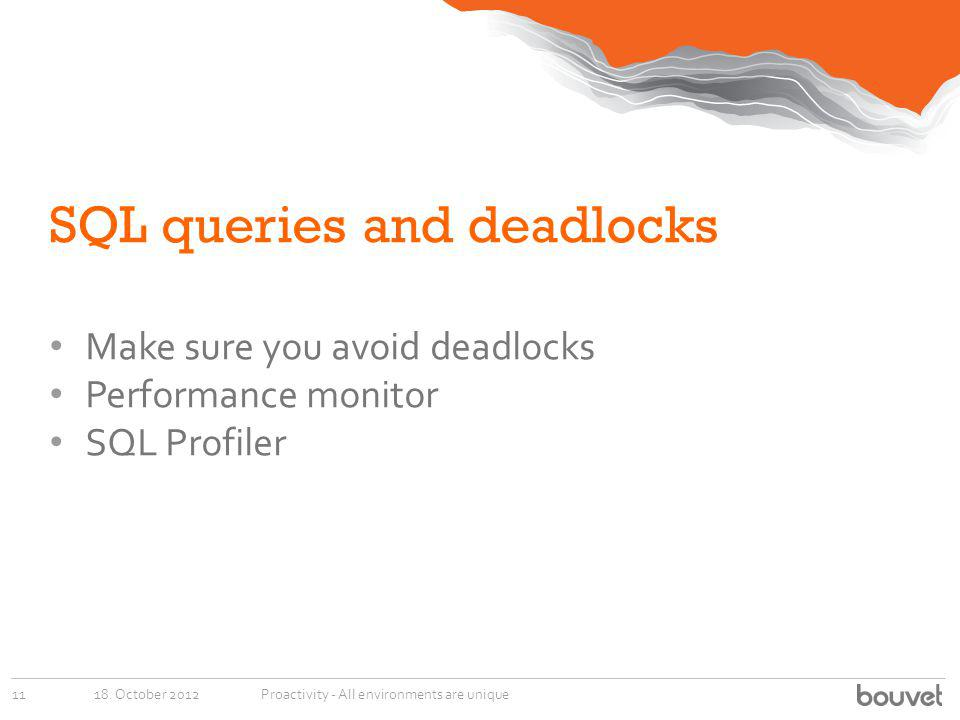 SQL queries and deadlocks
