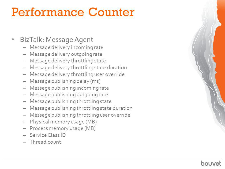 Performance Counter BizTalk: Message Agent