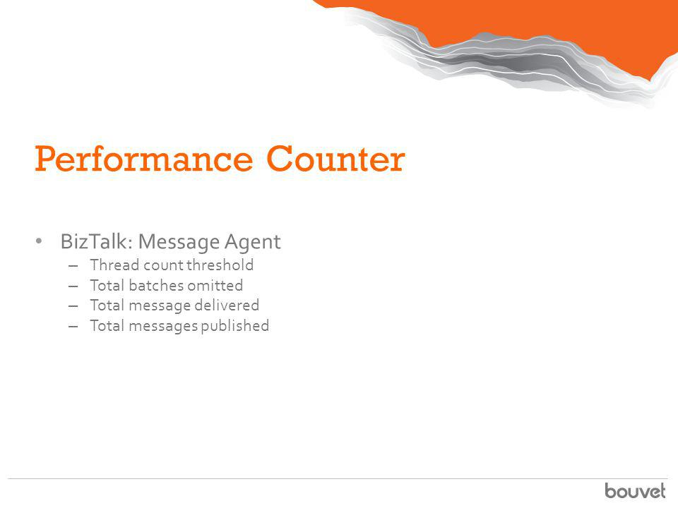 Performance Counter BizTalk: Message Agent Thread count threshold