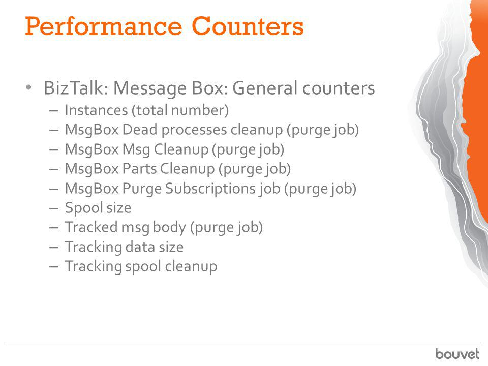 Performance Counters BizTalk: Message Box: General counters