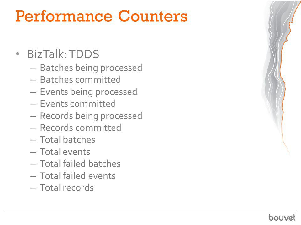 Performance Counters BizTalk: TDDS Batches being processed