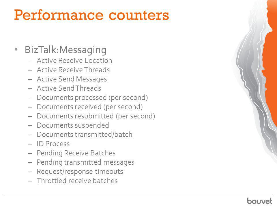 Performance counters BizTalk:Messaging Active Receive Location