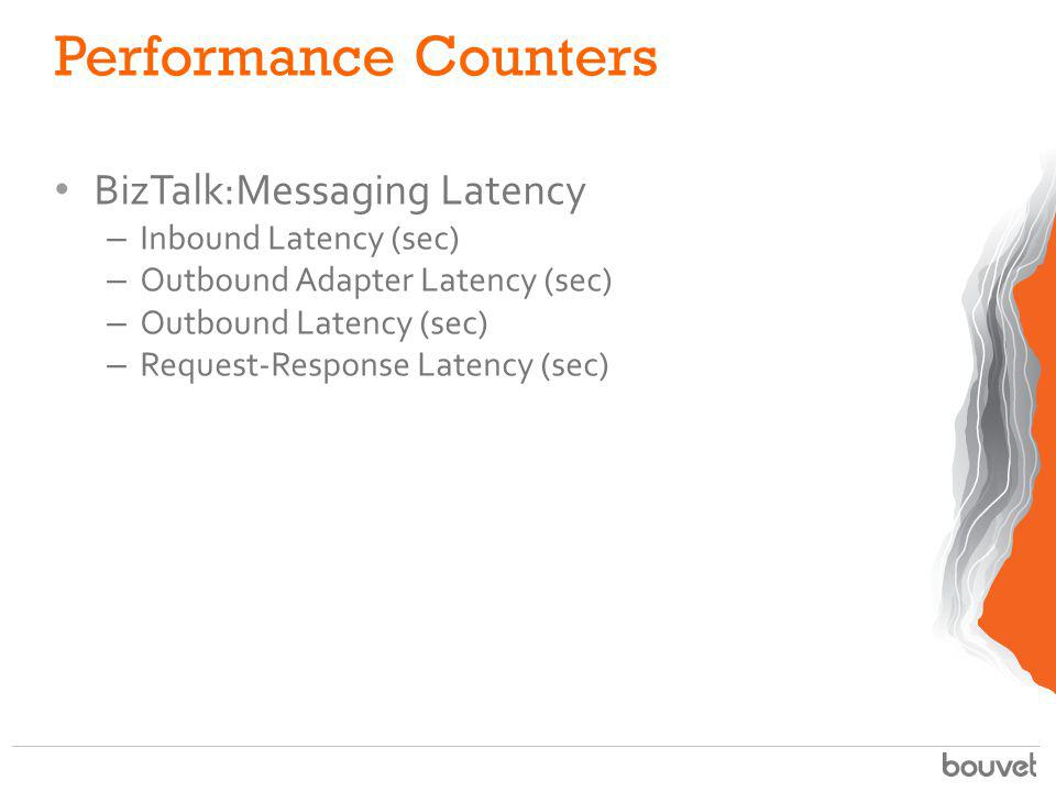 Performance Counters BizTalk:Messaging Latency Inbound Latency (sec)