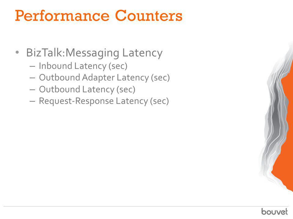 Performance Counters BizTalk:Messaging Latency Inbound Latency (sec)