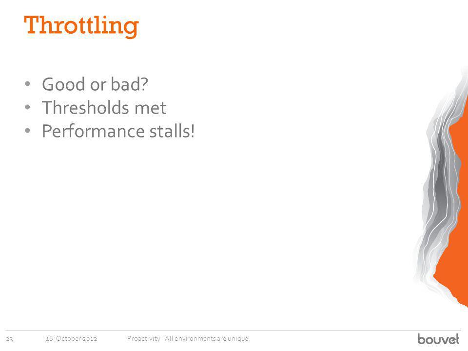 Throttling Good or bad Thresholds met Performance stalls!