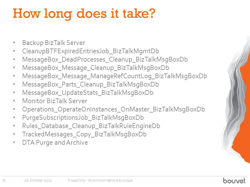 How long does it take Backup BizTalk Server