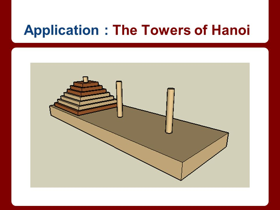 Application : The Towers of Hanoi