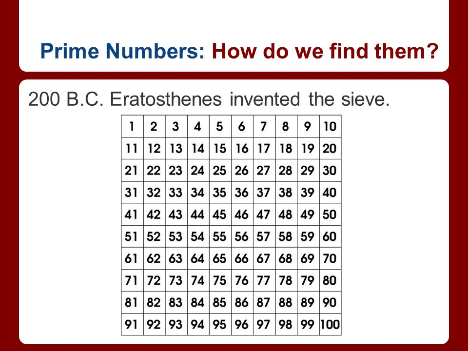 Prime Numbers: How do we find them