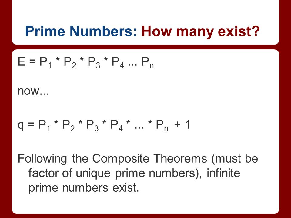 Prime Numbers: How many exist