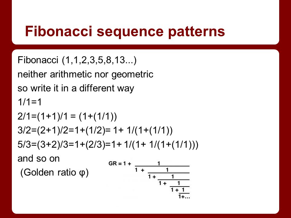 Fibonacci sequence patterns