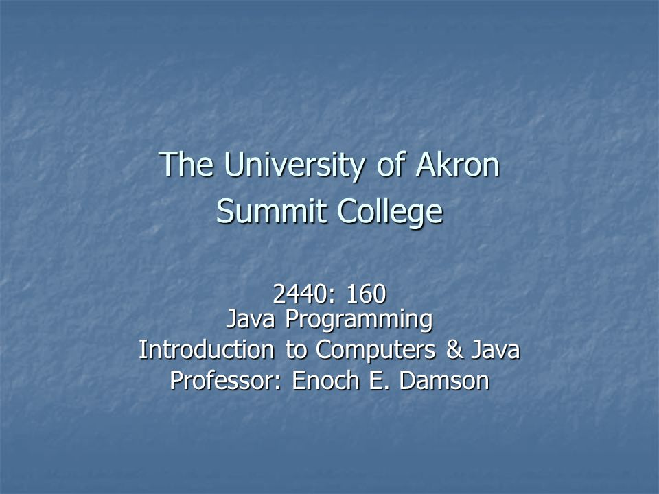 The University of Akron Summit College