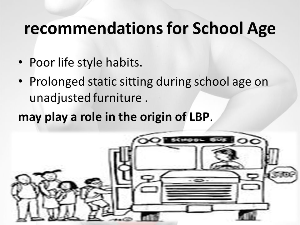 recommendations for School Age