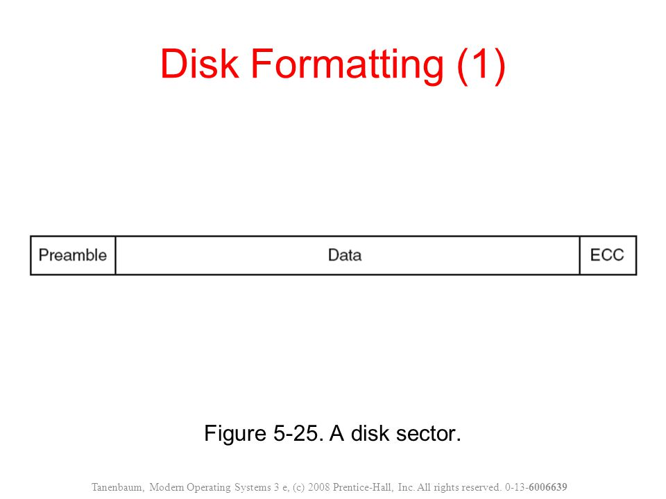 Disk Formatting (1) Figure 5-25. A disk sector.