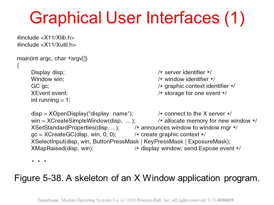 Graphical User Interfaces (1)