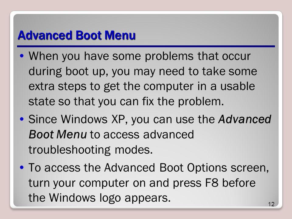 Advanced Boot Menu
