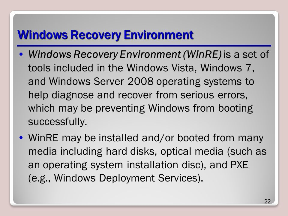 Windows Recovery Environment