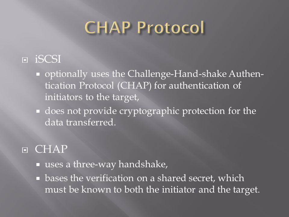 CHAP Protocol iSCSI CHAP
