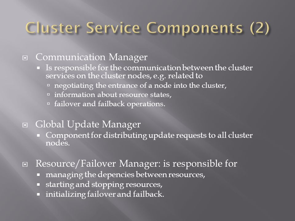 Cluster Service Components (2)