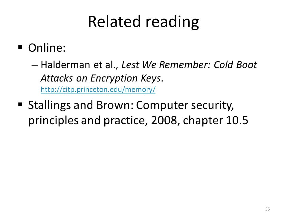 Related reading Online: