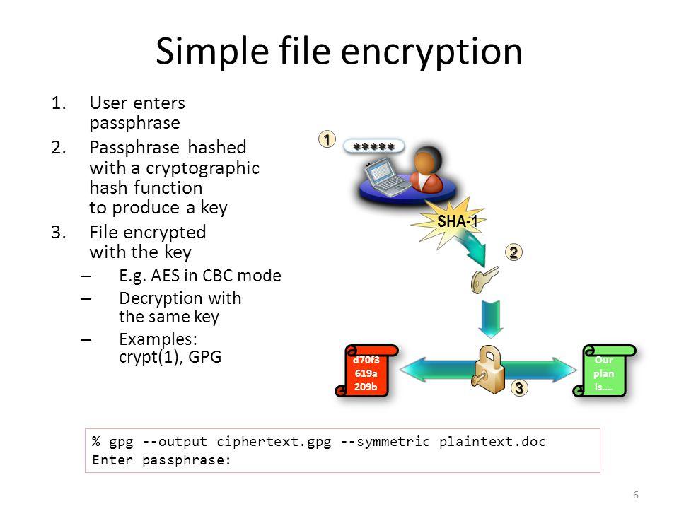 Simple file encryption