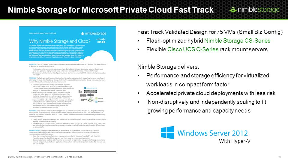 Nimble Storage for Microsoft Private Cloud Fast Track