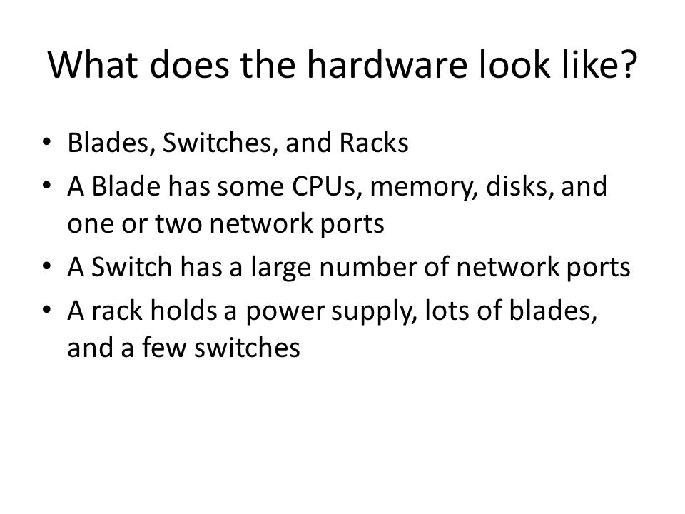 What does the hardware look like