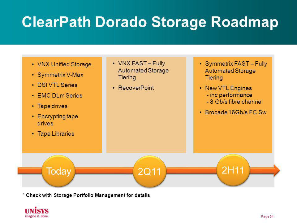 ClearPath Dorado Storage Roadmap