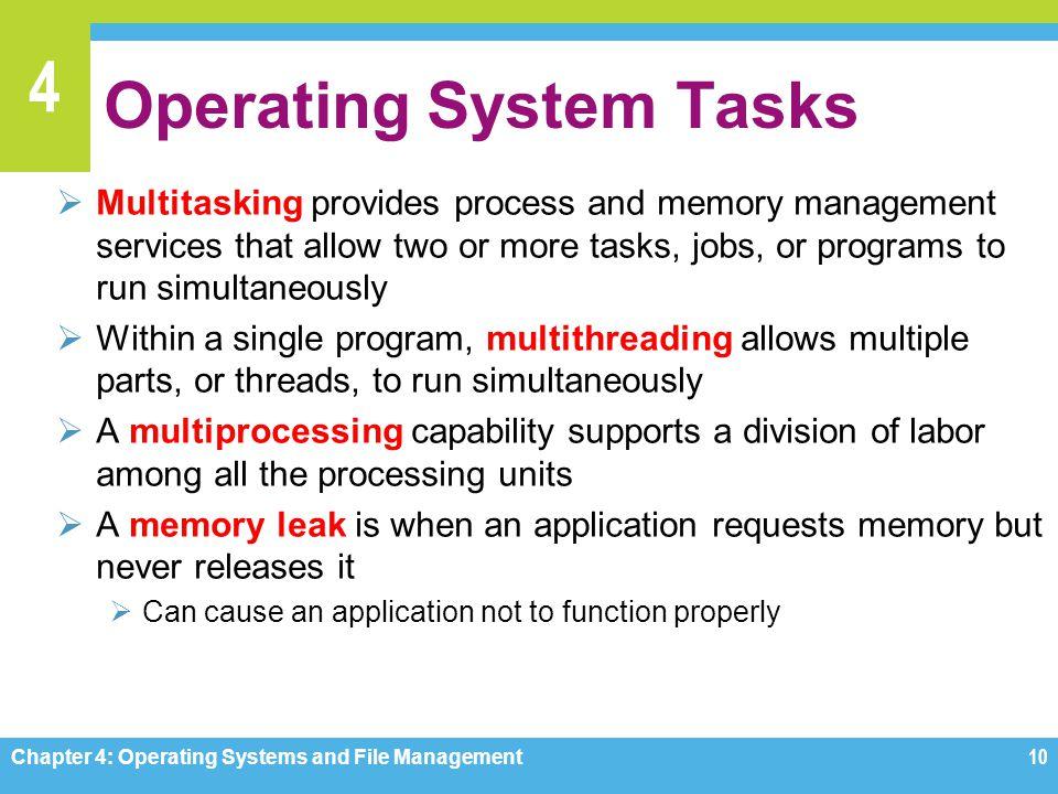 Operating System Tasks