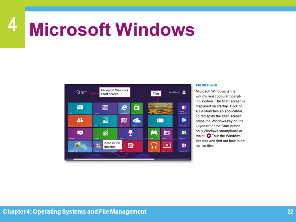 Microsoft Windows Chapter 4: Operating Systems and File Management