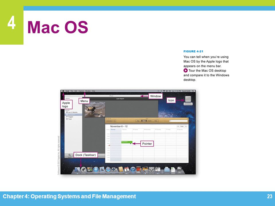 Mac OS Figures 4-21 Chapter 4: Operating Systems and File Management