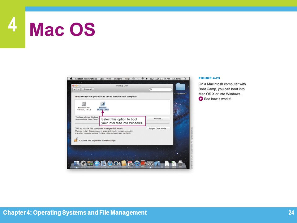 Mac OS Figure 4-23 Chapter 4: Operating Systems and File Management