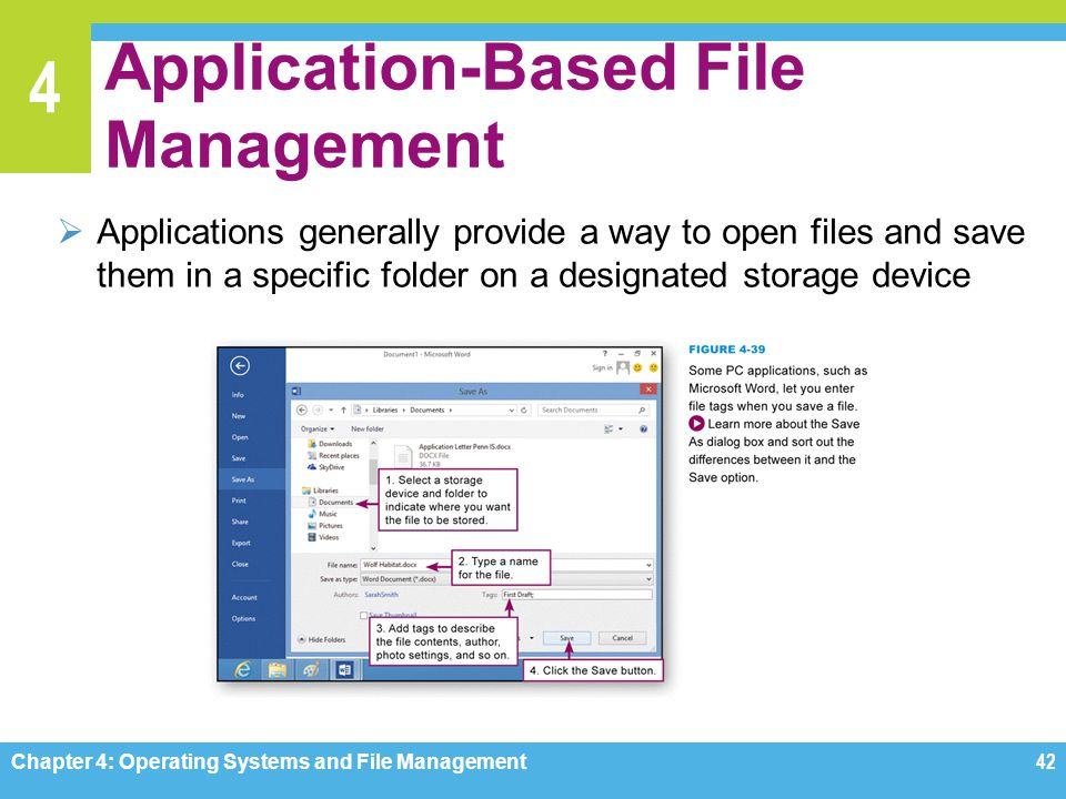Application-Based File Management