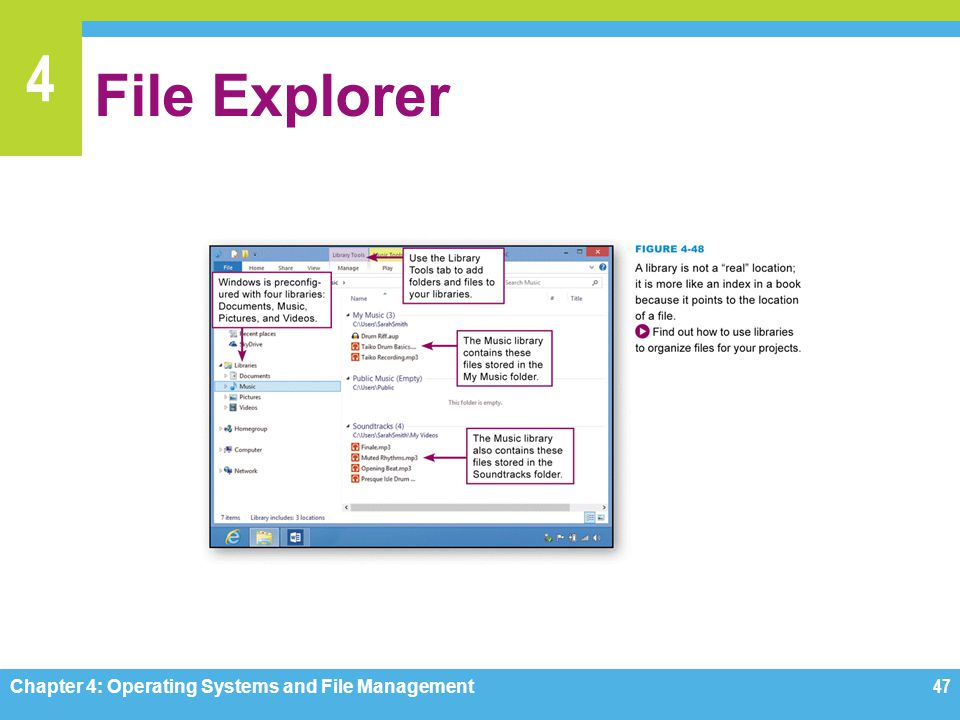File Explorer Chapter 4: Operating Systems and File Management