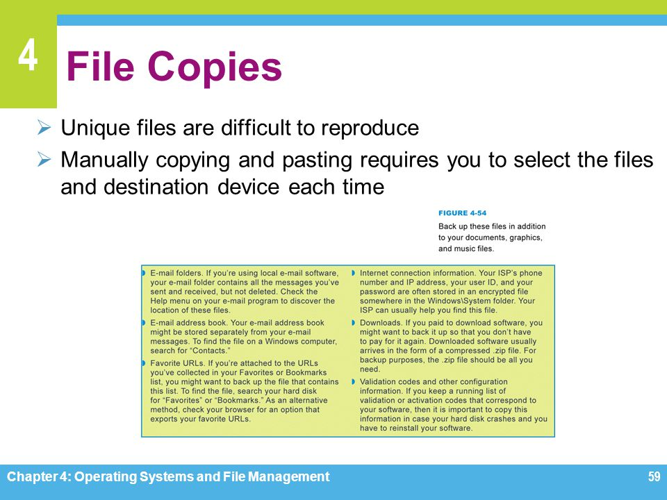 File Copies Unique files are difficult to reproduce