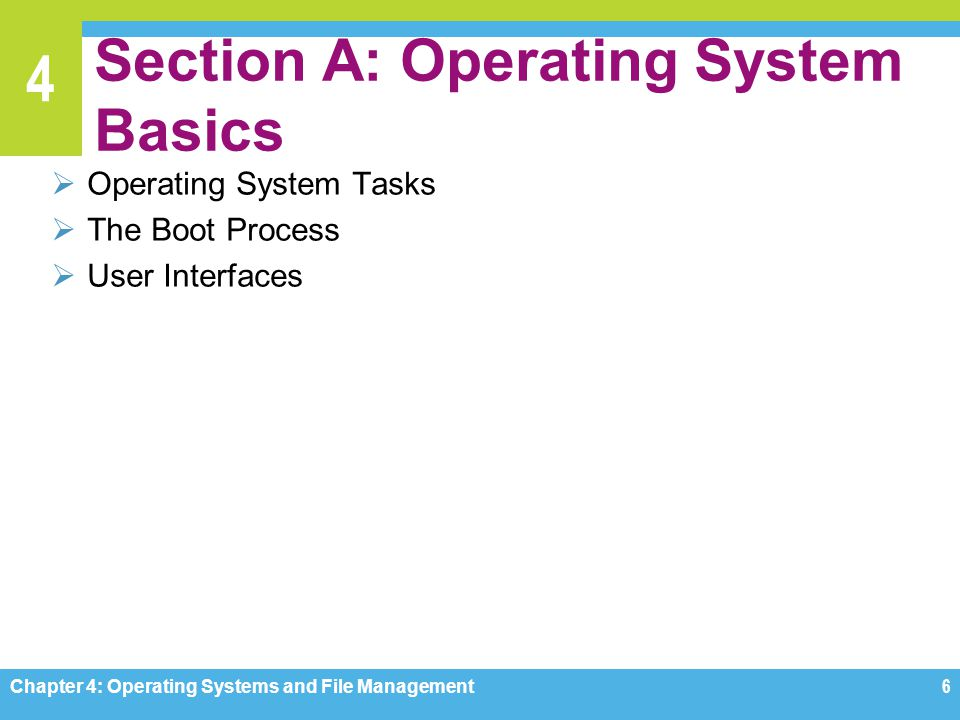 Section A: Operating System Basics