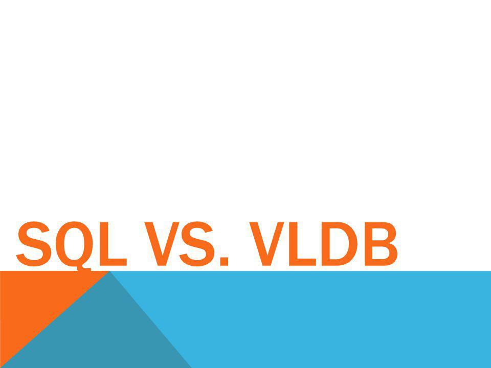 SQL vs. VLDB