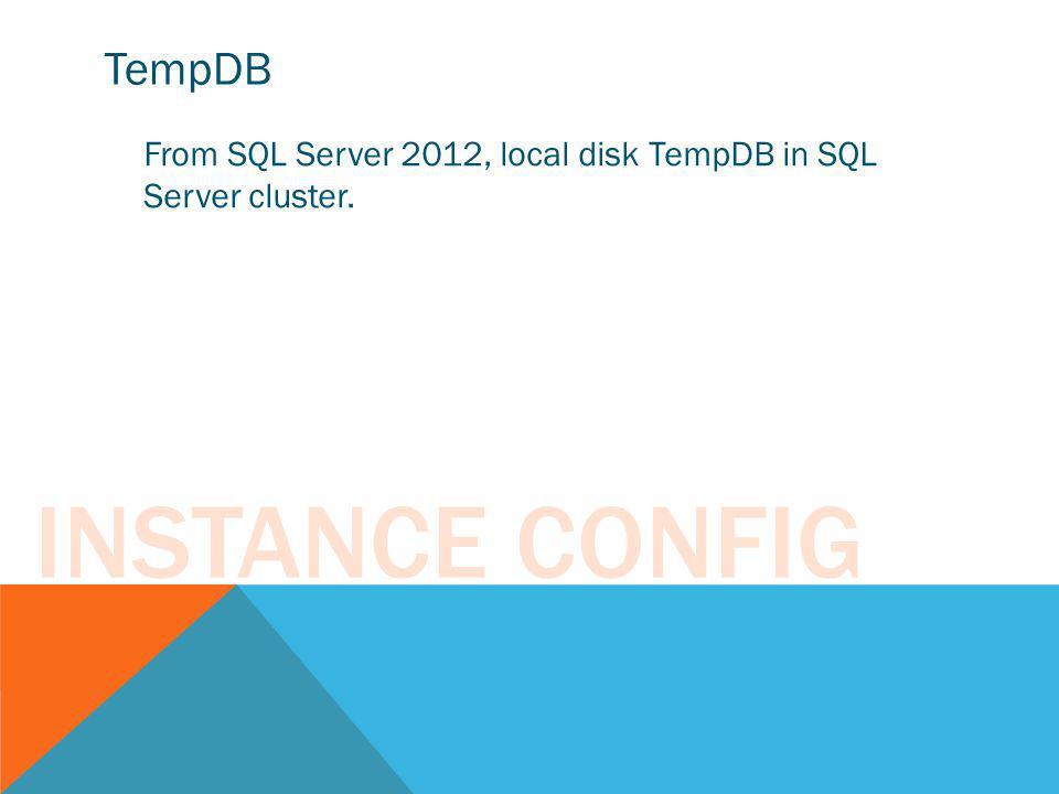 Instance Config TempDB