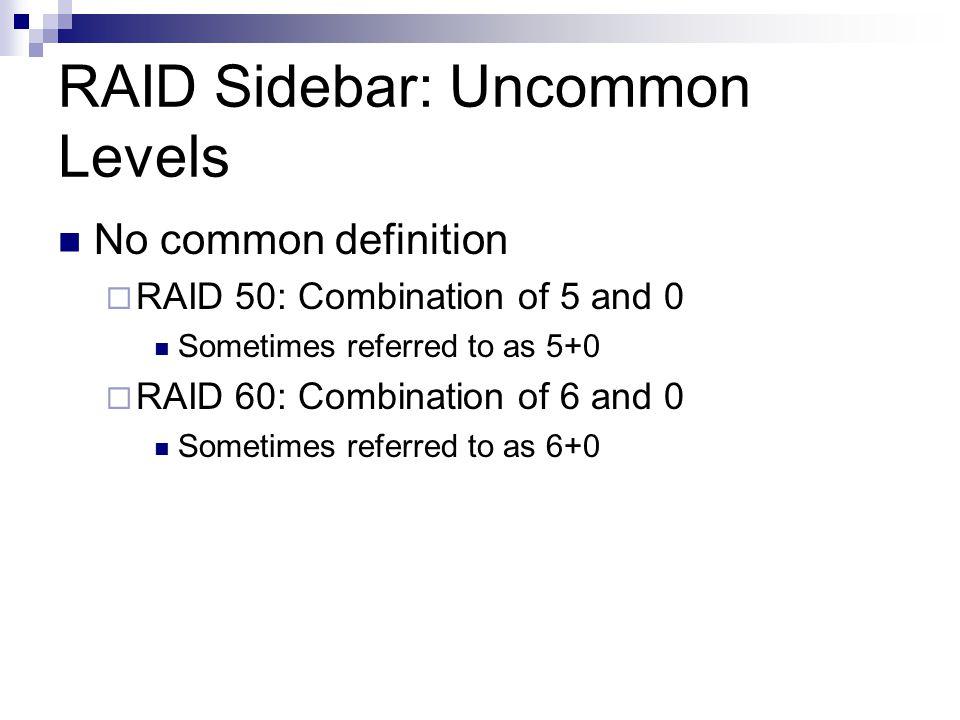 RAID Sidebar: Uncommon Levels