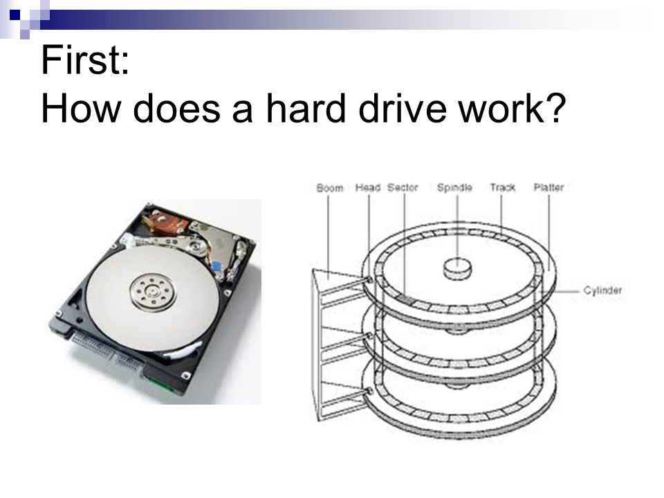 First: How does a hard drive work